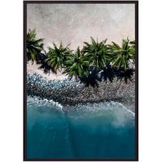 Постер в рамке Дом Корлеоне Пальмы на пляже 50x70 см