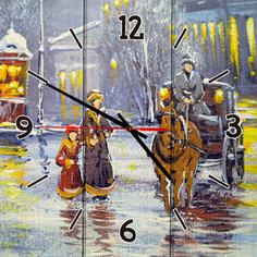 Настенные часы Дом Корлеоне Зимний вечер 40x40 см