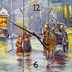 Настенные часы Дом Корлеоне Зимний вечер 30x30 см