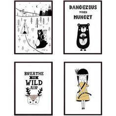 Набор из 4-х постеров Дом Корлеоне Коллаж Детский №130 21х30 см 4 шт.