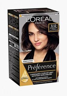 "Краска для волос LOreal Paris LOreal ""Preference"", оттенок 3.12, Мулен Руж"