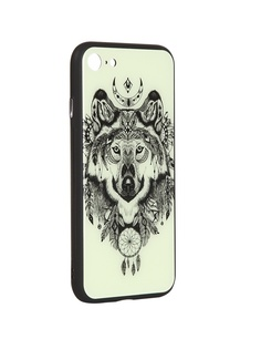 Чехол Flexis для APPLE iPhone 7/8 Волк FX-CASE-GiDGC-iP7-WOLF