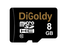 Карта памяти 8Gb - DiGoldy Micro Secure Digital HC Class 10 DG008GCSDHC10 / 1130013