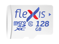 Карта памяти 128Gb - Flexis Micro Secure Digital XC Class 10 UHS-I U1 FMSD128GU1