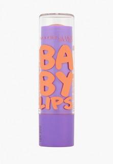 Бальзам для губ Maybelline New York Baby Lips, Персик, восстанавливающий и увлажняющий, с бежевым оттенком и запахом, 1,78 мл