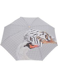 Burberry складной зонт с принтом