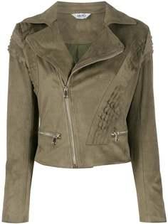 LIU JO байкерская куртка со сборками