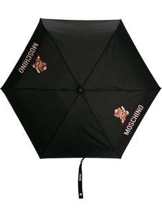 Moschino зонт с принтом и декором Teddy
