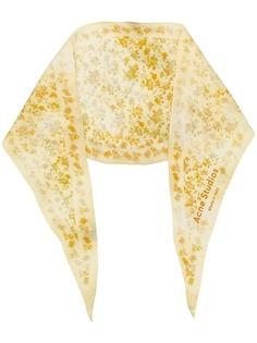 Acne Studios шарф с цветочным принтом