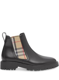 Burberry ботинки челси в клетку Vintage Check