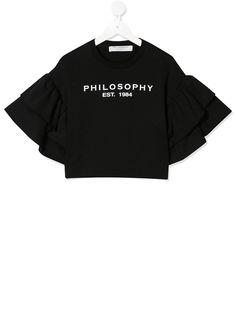 Philosophy Di Lorenzo Serafini Kids футболка с оборками