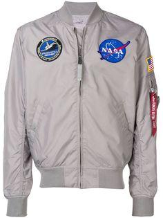 Alpha Industries куртка-бомбер в стиле пэчворк