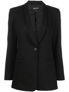 Emporio Armani однобортный пиджак-смокинг