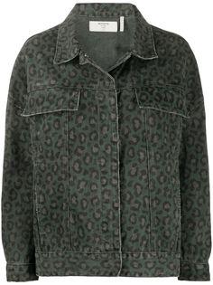 One Teaspoon джинсовая куртка с леопардовым принтом
