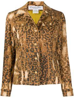 Christian Dior Pre-Owned джинсовая куртка 2000-х годов с леопардовым принтом