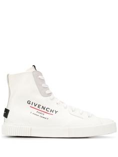 Givenchy высокие кеды с логотипом
