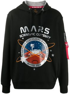Alpha Industries худи с принтом Mars