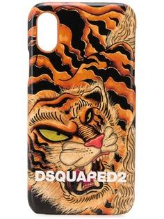 Dsquared2 чехол для iPhone X с принтом