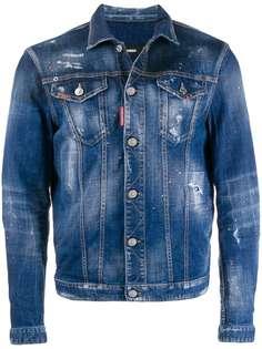 Dsquared2 джинсовая куртка с эффектом разбрызганной краски