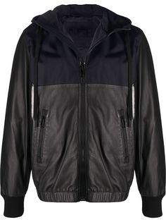 Diesel комбинированная куртка с капюшоном