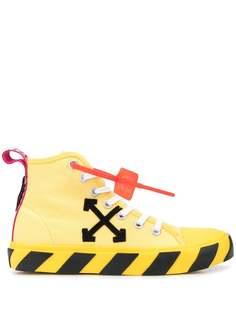 Off-White кроссовки с контрастными полосками на подошве
