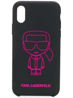 Karl Lagerfeld чехол Ikonik для iPhone X/XS