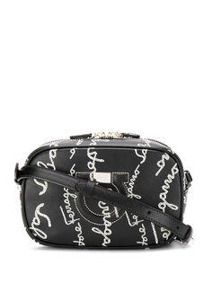 Salvatore Ferragamo каркасная сумка с вышивкой Gancini и логотипом