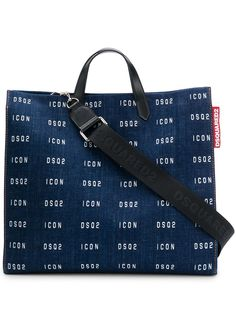 Dsquared2 джинсовая сумка-тоут с логотипом