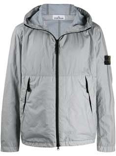 Stone Island куртка Membrana с жатым эффектом