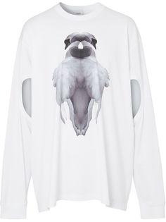 Burberry футболка с принтом