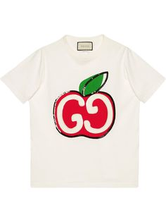 Gucci футболка с принтом GG Apple
