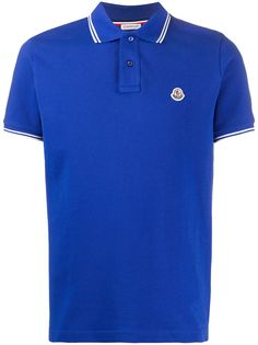 Moncler рубашка-поло с отделкой в полоску