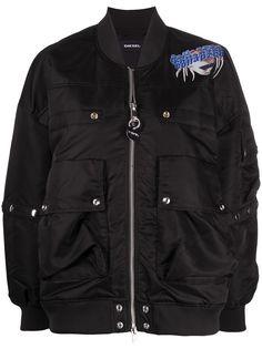 Diesel куртка-бомбер с графичным принтом