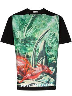 Valentino Red Dragon graphic-print T-shirt