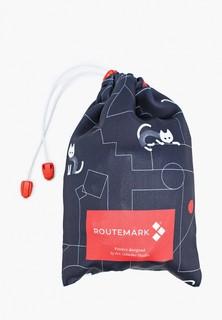 """Чехол для чемодана Routemark """"Коты и порядок в черном"""" с паттерном Студии Артемия Лебедева SP310 M/L"""