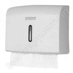 Диспенсер для полотенец лайма professional economy, interfold, белый, abs пластик, 605049