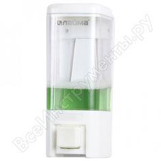 Диспенсер для жидкого мыла лайма наливной, 0,48 л, abs пластик, белый, 605052