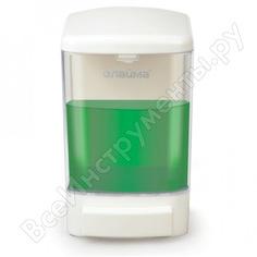 Диспенсер для жидкого мыла лайма наливной, 1 л, abs-пластик, белый, 601794