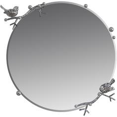 "Зеркало Bogacho ""Терра"" (d=60см), Айс(БЛ), цв. к. Античное серебро(АСр)"