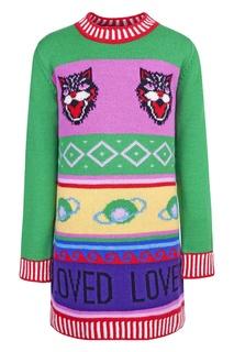 Платье-свитер с узором Gucci