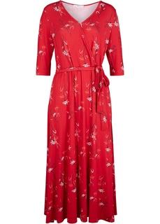 Длинные платья Платье с запахом-обманкой Bonprix