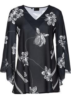 Блузки с длинным рукавом Блузка с принтом Bonprix
