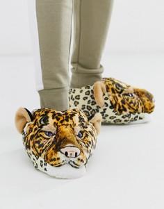 Слиперы с леопардом Loungeable-Оранжевый
