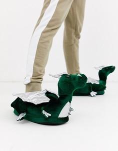 Слиперы с драконом Loungeable-Зеленый