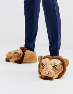 Слиперы со львом Loungeable-Оранжевый