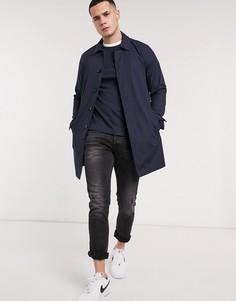 Темно-синий макинтош в клеточку Burton Menswear