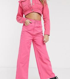 Широкие розовые джинсы Reclaimed Vintage-Розовый