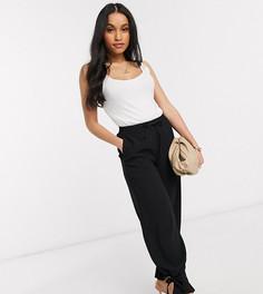 Черные строгие брюки с завязкой на нижней кромке Vero Moda Petite-Черный
