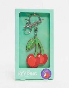 """Брелок для ключей с дизайном """"вишни"""" Sunnylife-Красный"""