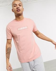 Розово-коралловая футболка Napapijri-Розовый